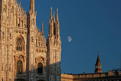 Milano Moonrise Poster by Art Ferrier