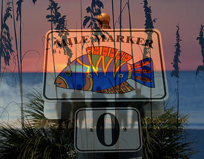 Mile Marker 0 Sunset Poster by David Lee Thompson