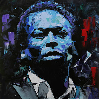 Poster featuring the painting Miles Davis by Richard Day