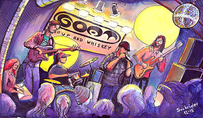 Miles Guzman Band Poster by David Sockrider