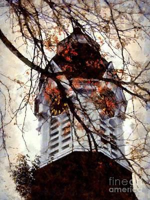 Milford Clock Tower Vintage Poster