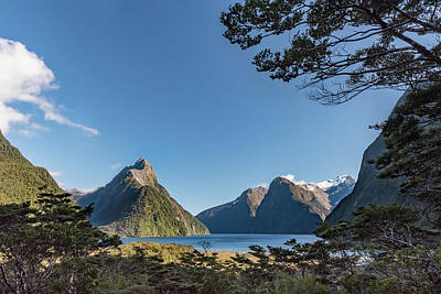 Poster featuring the photograph Milford Sound Overlook by Gary Eason