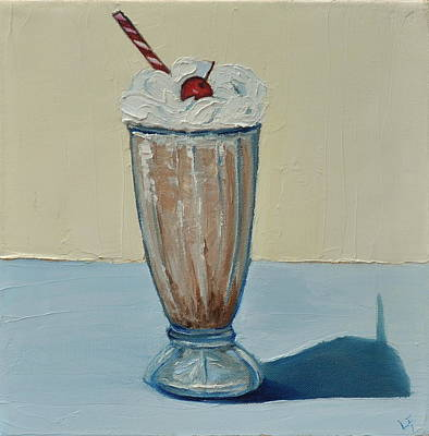 Poster featuring the painting Milkshake by Lindsay Frost