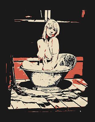 Milky Bath - Beautiful Girl In Bath Poster