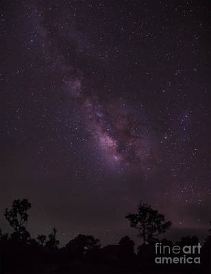 Poster featuring the photograph Milky Way And Galaxy. by Tosporn Preede