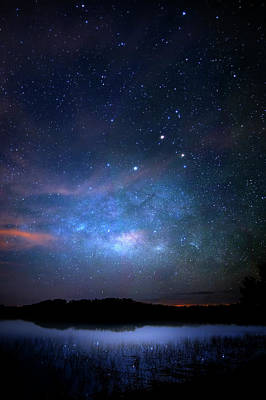 Milky Way At 9 Mile Pond Poster by Mark Andrew Thomas