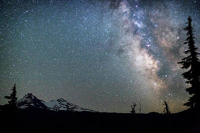 Poster featuring the photograph Milky Way At Mckenzie Pass by Cat Connor