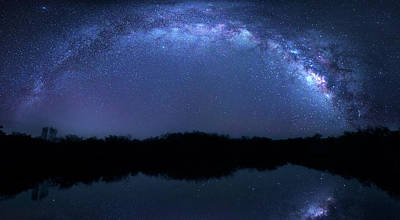 Poster featuring the photograph Milky Way At Mrazek Pond by Mark Andrew Thomas