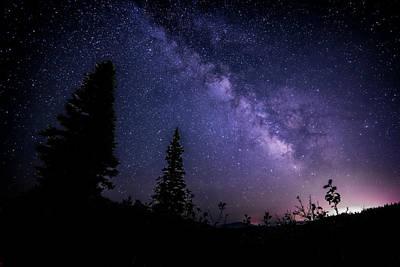 Milky Way At Powder Mountain Poster