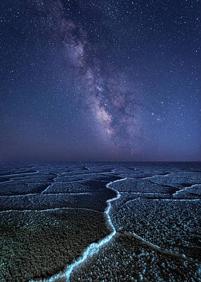 Milky Way At The Salt Flats Poster