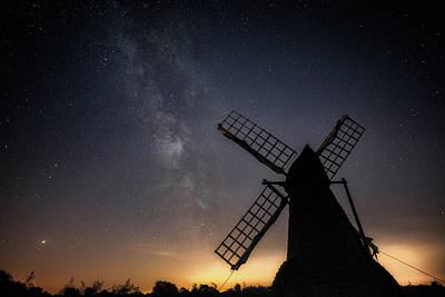 Milky Way At Wicken Poster