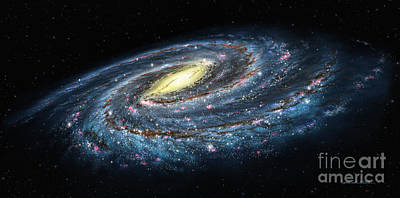 Milky Way Galaxy Oblique Poster