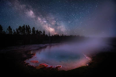 Milky Way In Yellowstone Poster