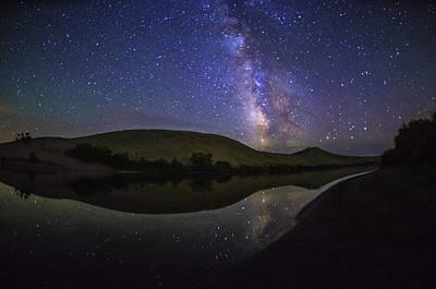 Milky Way Over Big Dunes At Bruneau Dunes State Park Idaho Usa Poster by Vishwanath Bhat