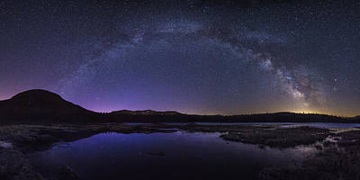 Milky Way Over Lonesome Lake Poster