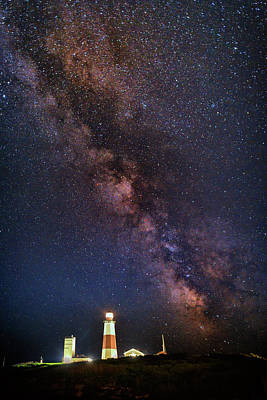 Milky Way Over Montauk Point Poster