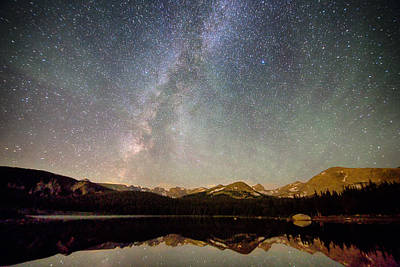 Milky Way Over The Colorado Indian Peaks Poster by James BO  Insogna