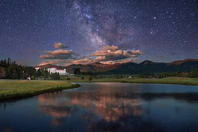 Milky Way Over The Omni Mount Washington Poster by Chris Whiton