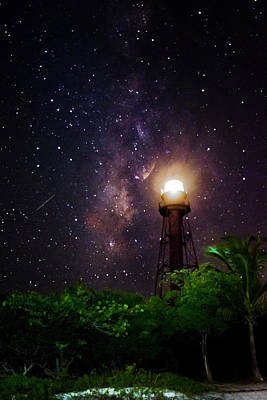 Milky Way Over The Sanibel Lighthouse Poster