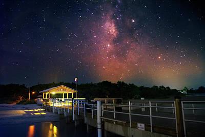 Milky Way Over The Sanibel Pier Poster