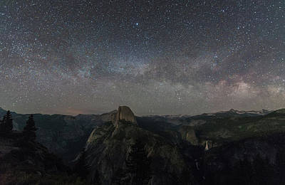 Milky Way Over The Valley Poster by Kristopher Schoenleber