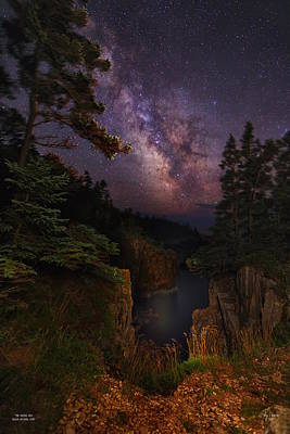 Milky Way Rising Over The Raven's Roost Poster