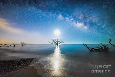 Milky Way Shore Poster by Robert Loe