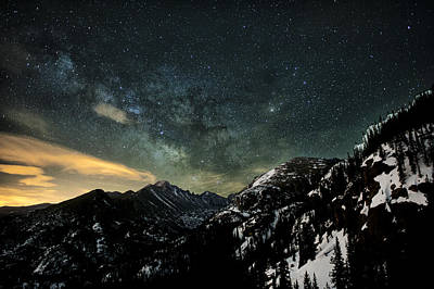 Milky Way Skies Over Glacier Gorge Poster by Mike Berenson