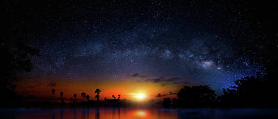 Poster featuring the photograph Milky Way Sunrise by Mark Andrew Thomas