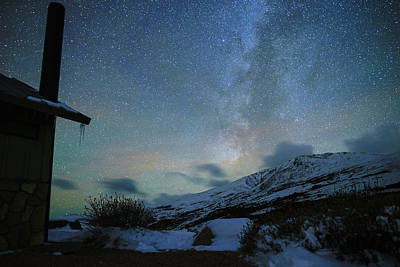 Milky Way With Airglow, Over Guanella Pass Poster