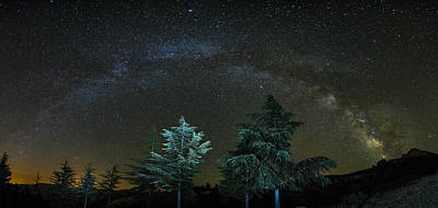 Milkyway At The Mountains II Poster by Guido Montanes Castillo