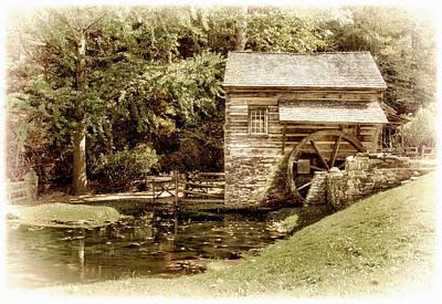 Mill At Cuttalossa Farm Poster by Carolyn Derstine