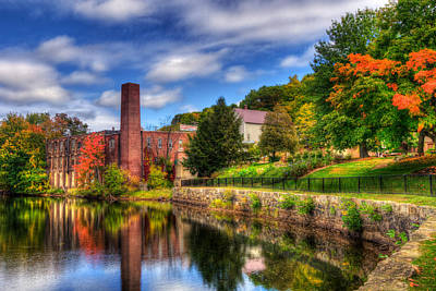 Mill Building - Autumn In Laconia Nh Poster by Joann Vitali