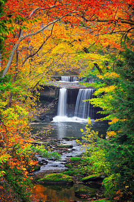 Mill Creek Fall  Poster by Emmanuel Panagiotakis