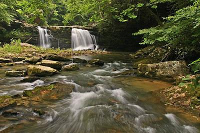 Mill Creek Falls  West Virginia Poster by Ulrich Burkhalter