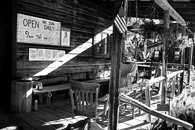 Mill Front Porch In Bw Poster by Selena Wagner