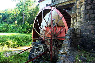 Mill Of Guilford Water Wheel Poster by Selena Wagner
