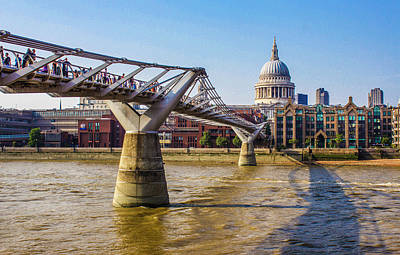 Millennium Bridge And St. Paul's Poster by Venetia Featherstone-Witty