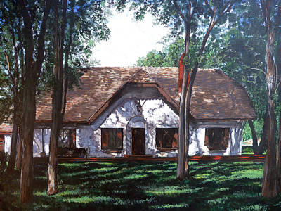 Poster featuring the painting Miller Homestead by Tom Roderick