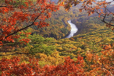 Millers River Valley Autumn Poster
