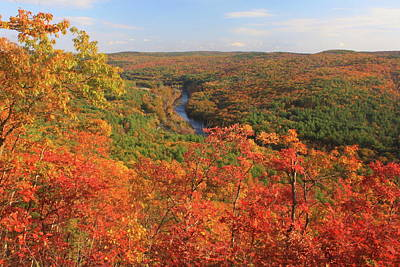 Millers River Valley In Autumn Poster