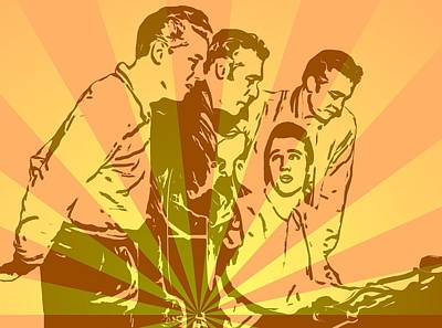 Million Dollar Quartet Pop Art Poster by Dan Sproul