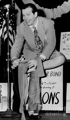 Milton Berle At The War Bond Drill In 1944 Poster