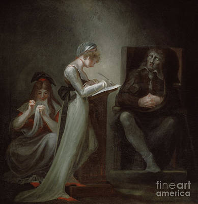 Milton Dictating To His Daughter Poster by Henry Fuseli