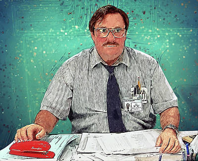 Milton - Office Space Poster