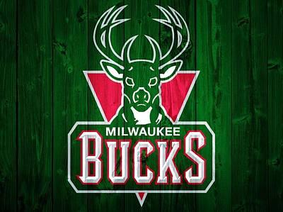 Milwaukee Bucks Barn Door Poster by Dan Sproul