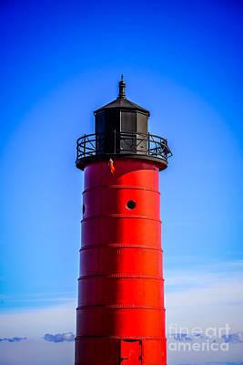 Milwaukee Pierhead Lighthouse Photo In Wisconsin Poster