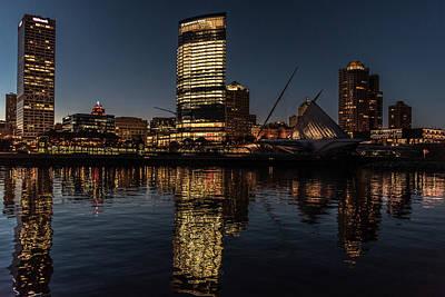 Milwaukee Reflections Poster by Randy Scherkenbach