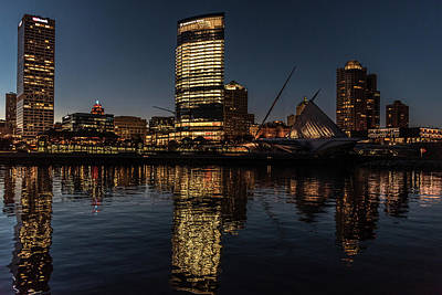 Poster featuring the photograph Milwaukee Reflections by Randy Scherkenbach