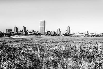 Milwaukee Skyline Black And White Picture Poster